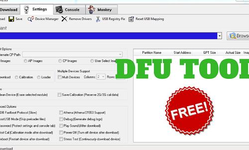 DFU Flash Tool Download Latest V2.03