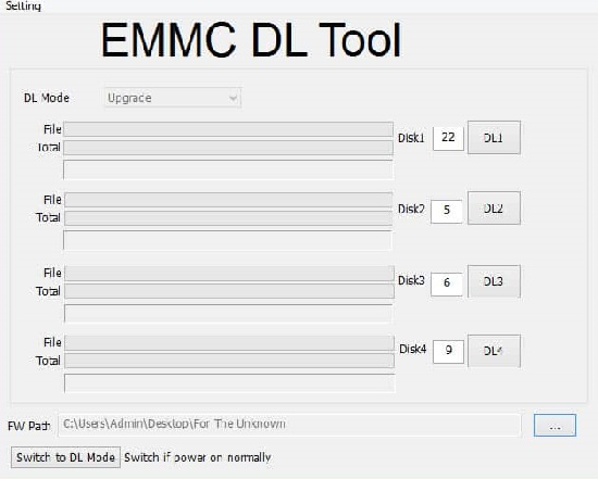 eMMC DL Tool Download latest v5.2.0