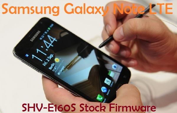 Samsung Galaxy Note LTE SHV-E160S Stock Firmware Download